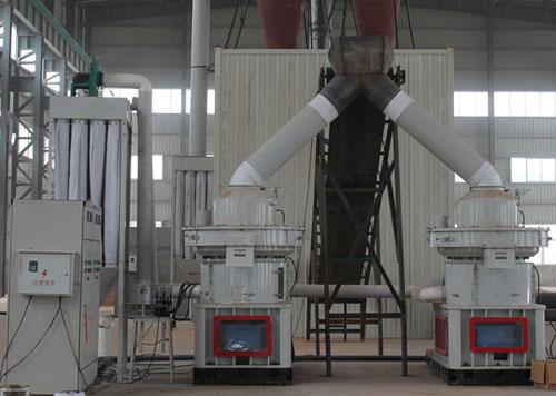 湖北荆州秸秆颗粒生产现场