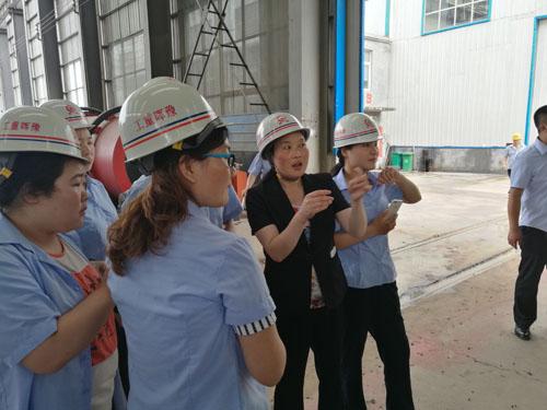 豫晖销售部、电商部参观学习公司生物质颗粒机试机生产