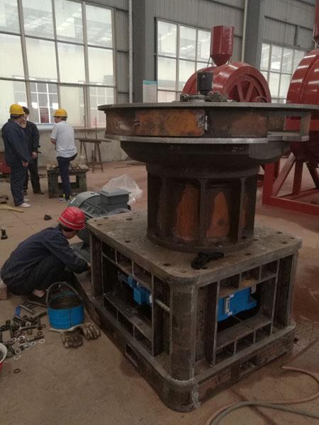 现场直击豫晖公司稻壳颗粒机生产制作过程中的组装工序